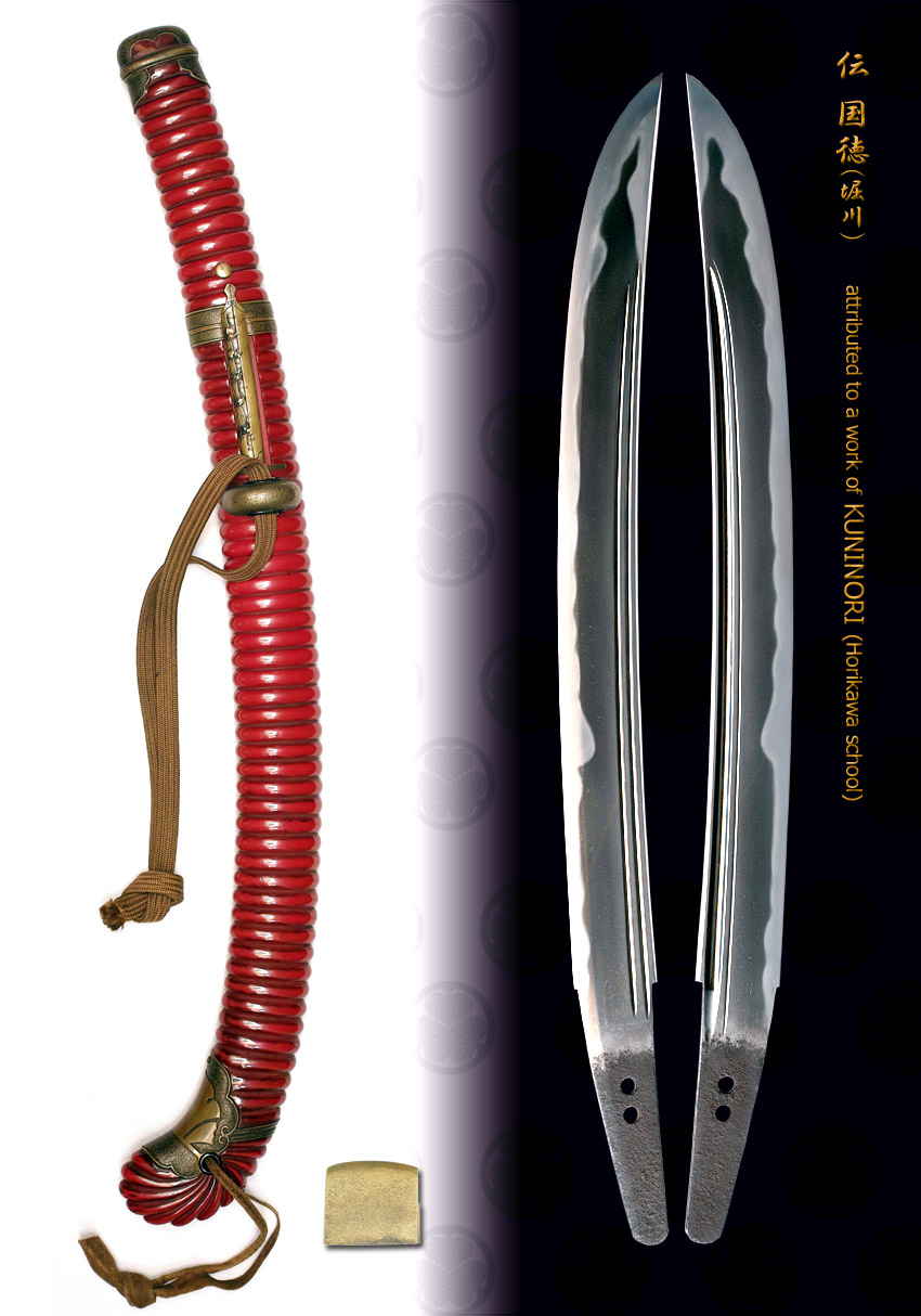 Wakizashi unsigned attrubuted to KUNINORI(Horikawa)